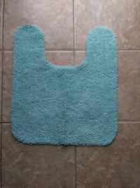 Small bath/ toilet rug- sky blue Polk County