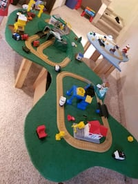 train tables for sale with all trains and tracks etc Edmonton, T5C 1R4