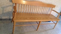 Solid oak bench 6 feet long comes with a  seat cover Calgary, T2L