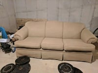 beige fabric 3-seat sofa Plymouth