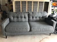 gray fabric 2-seat sofa Austin, 78744