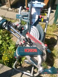 blue and gray Bosh miter table saw New Westminster