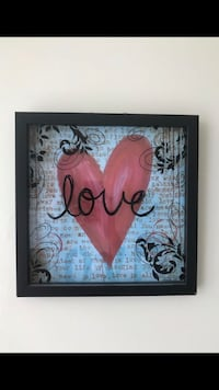Black and red love wall decor