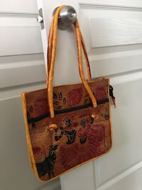 Brown and black leather tote bag Alexandria, 22314