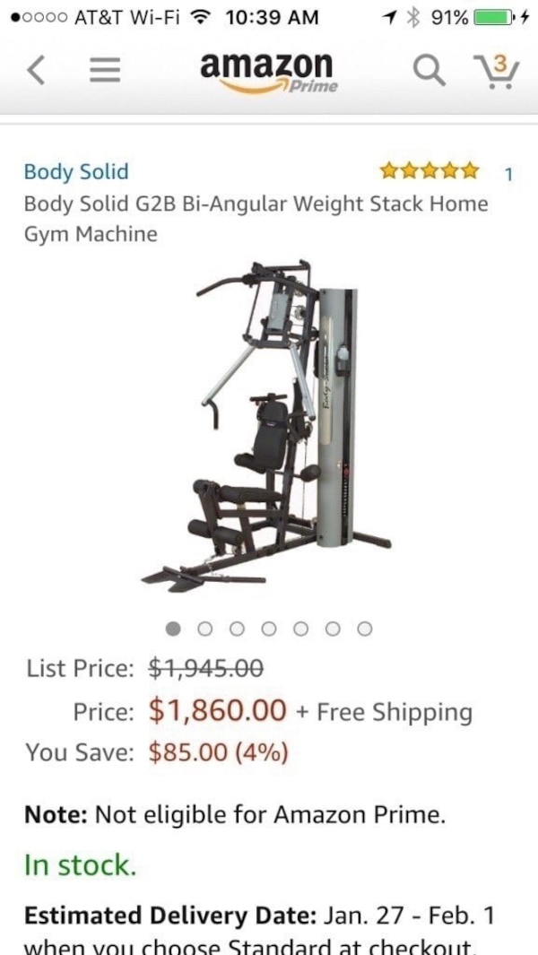 Body-Solid G2B Gym Fitness, home gym, weights, CrossFit exercise equipment