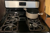 Stainless Steel Gas Frigidaire Stove.