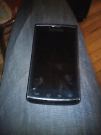 black LG android smartphone with black case Winnipeg