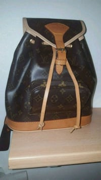 Tote bag in pelle Louis Vuitton marrone e nera Zelo Buon Persico, 26839