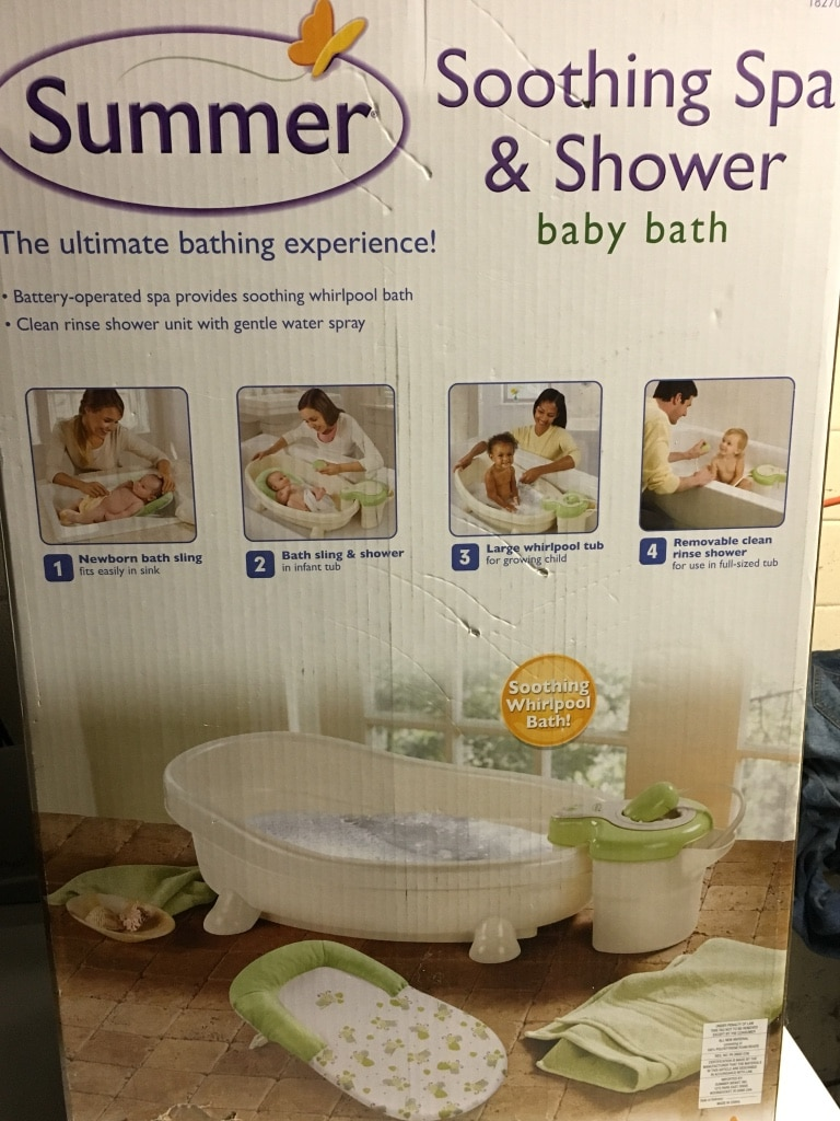 letgo sumemr soothing spa amp shower baby b in geneva il summer soothing spa and shower baby bath boy colors
