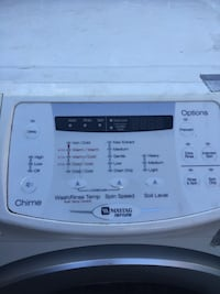 White maytag neptune front-load electric washing machine