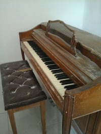 piano and bench. Needs a little love.  Mission Viejo, 92691