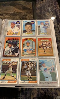 2 pages of 1969 New York Mets baseball cards! 18 total!  Syosset, 11791