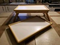 brown wooden framed glass top coffee table Oklahoma City, 73109
