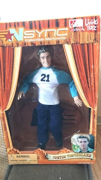 Brand New Justin Timberlake Collectible Marionette