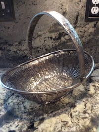 Silver tone fruits or vegetables basket Downingtown, 19335