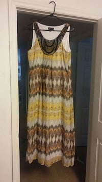green, red and white sleeveless dress Southern Pines, 28387