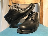 Leather black mens shoes, used once Lund, 226 42