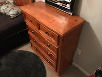 maple wood bedroom set - mattres and boz spring included Aldie, 20105