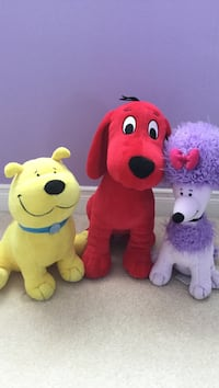 Clifford, T-Bone and Cleo Plushie Set Guelph, N1L 1L4