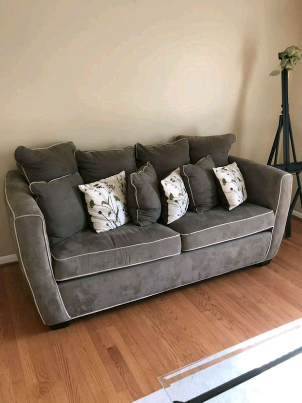 Beautiful green and tan couch set