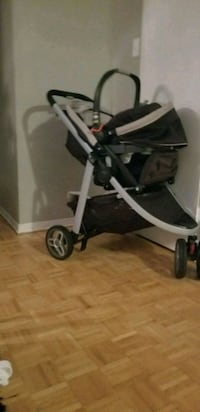 baby's black and gray stroller Mississauga, L4X 1S9