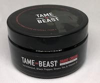 Mens Tame the Beast Shave Cream with Sandalwood and Black Pepper 8 OZ Clarksville