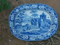 blue and white floral ceramic plate Mesa, 85205