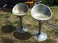 two gray stools