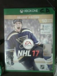 EA Sports NHL 17 Xbox One game case