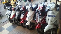 assorted color of motor scooter