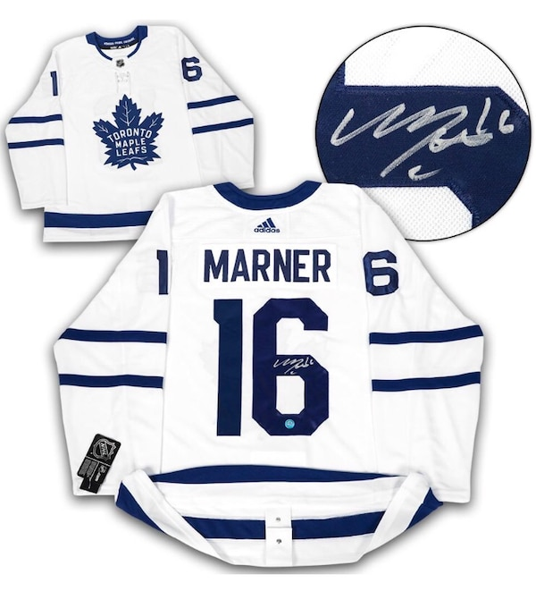 quality design 52bce 118fb Mitch Marner Signed Toronto Maple Leafs White PRO Jersey