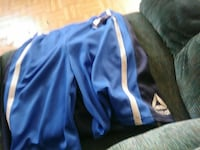 blue and white Adidas track pants Schenectady