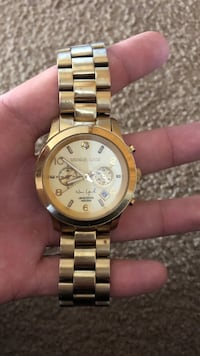 Michael Kors gold/stainless steel watch