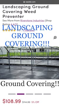NEW Landscaping Ground Covering Weed Preventer