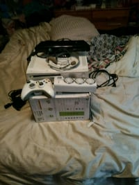 white Xbox 360 console with controller and game ca Cambridge, N1R 7B7