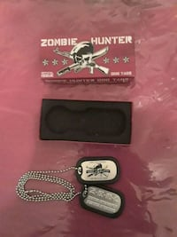 Zombie Hunter Dog tags with necklace  East Windsor, 08520