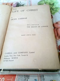 Book. The life of Christ. Published in 1906 Nanaimo