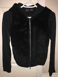 ARMANI EXCHANGE FUR JACKET BLACK