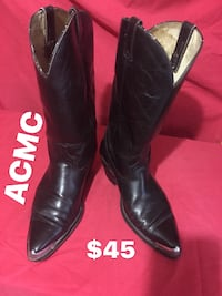 pair of black leather cowboy boots Brownsville