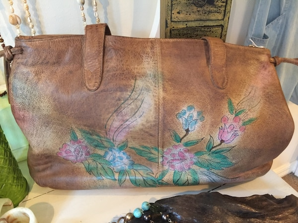 caa19f67f19a Beautiful CAFE by Marlo leather purse with flower detailing. HomeFashion  and Accessories Bonita Springs
