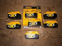 Dewalt 20Volt XR 5.0ah Batteries and Charger Markham, L3P 6N3