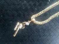 Revolver with Scope Necklace/ chain Baltimore, 21229
