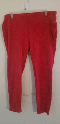 Size 20. Red stretch corduroy Dover, 19901
