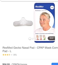 ResMed GECKO NASAL PAD CUSHION FOR CPAP MASK * 12.00 ea UNOPENED PKG
