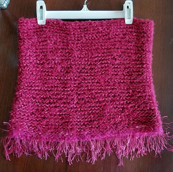 Soft cowl neck tube scarf, silk blend 1