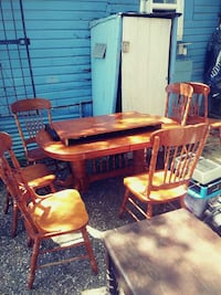 brown wooden dining table set Texas