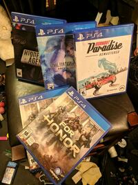 5x assorted PS4 games Richmond, V6X 2R9