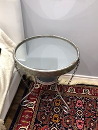 Rustic mirrored side table  535 km