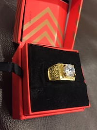 Rebel Waterford Gold-plated Crystal Ring!! (Brand new box packed)! Mississauga, L5M 7G4