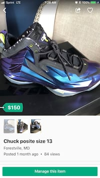 blue-and-black Nike basketball shoes screenshot District Heights, 20747